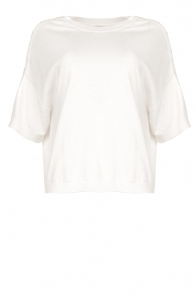 JC Sophie |  Basic sweater Dijon | white