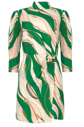 ELISABETTA FRANCHI | Print dress Chain | green