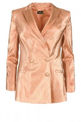 ELISABETTA FRANCHI |  Metallic blazer Sparkle | pink