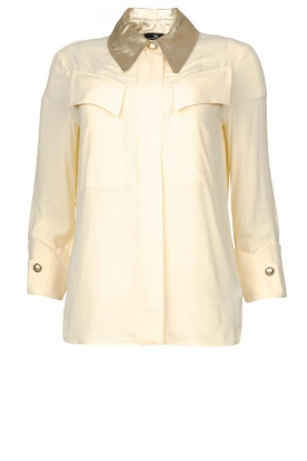 ELISABETTA FRANCHI |  Blouse with metallic collar Toxic | natural