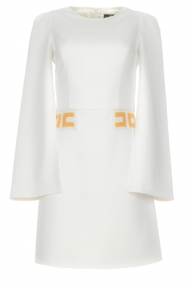 ELISABETTA FRANCHI | Dress with flared sleeves Heavenly | white