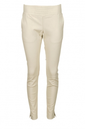 Ibana |  Leather pants Colette | white