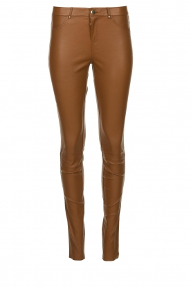 Ibana |  Stretch leather pants Tarte Tatin | camel