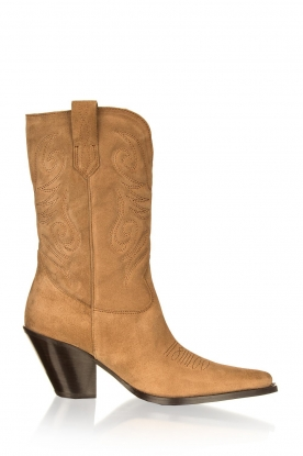 Toral | Western suede boots Bambi | brown