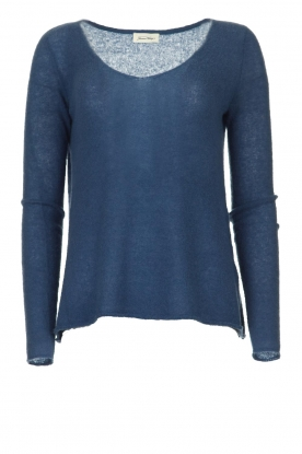 American Vintage | Finely knitted wool sweater Nani | blue