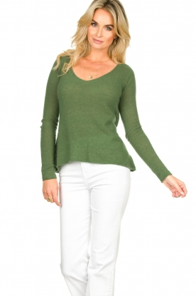 American Vintage |  Finely knitted wool sweater Nani | green