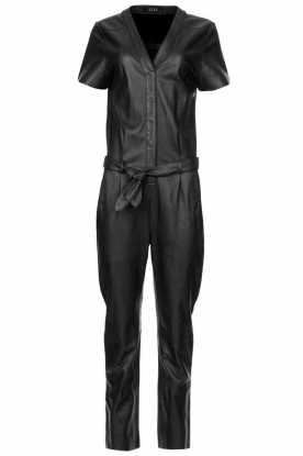 Ibana |  Leather jumpsuit Tamar | black
