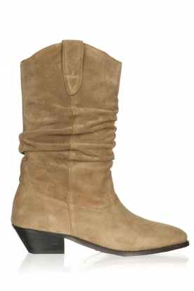 Catarina Martins | Suede boot Aba | sand