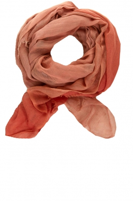 Moment by Moment |  Linen scarf Blue | pink