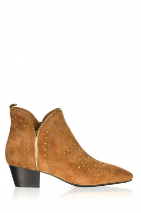 Sofie Schnoor |  Suede studded ankle boots Vally | brown