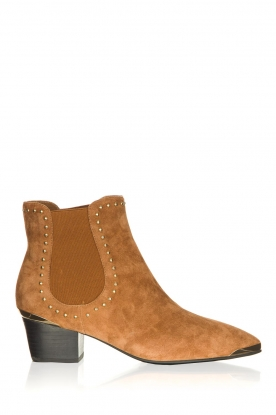 Sofie Schnoor |  Suede ankle boots Kristy | brown