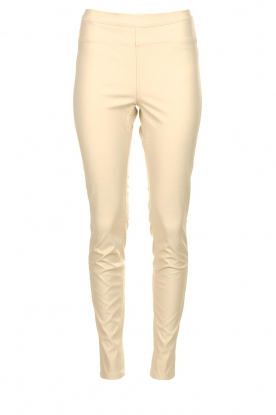 Knit-ted |  Faux leather pants Amber | naturel