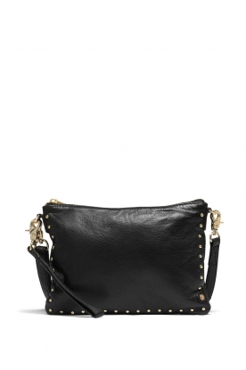 Depeche |  Leather shoulder bag Fine | black