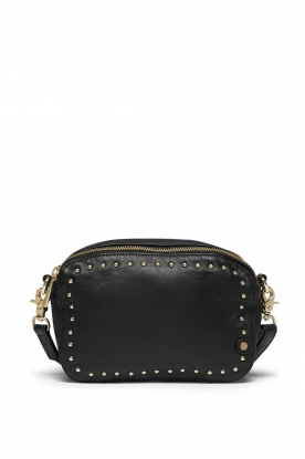 Depeche |  Leather shoulder bag Lille | black