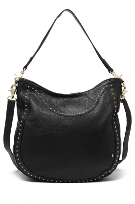 Depeche |  Leather shoulder bag Reese | black