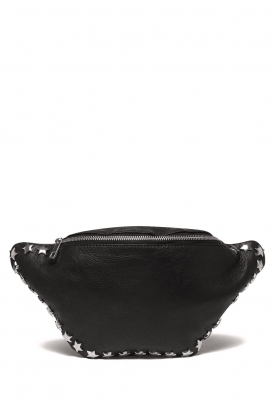 Depeche | Leather fanny pack Amanda | black