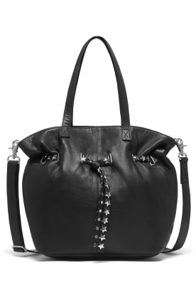 Depeche |  Leather shoulder bag Lilly | black
