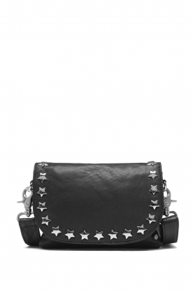 Depeche |  Leather shoulder bag Jill | black
