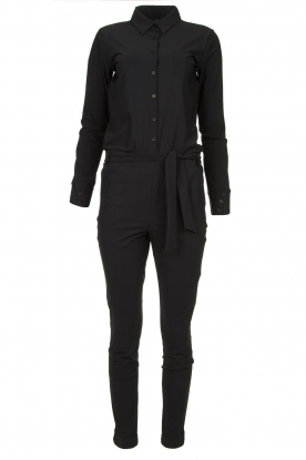 D-ETOILES CASIOPE |  Wrinkle-free stretch jumpsuit Tiamo | black