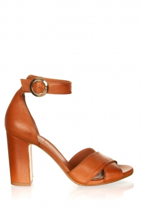 Matteo Pitti | Leather sandals Daphne | brown