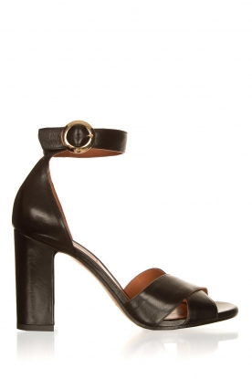 Matteo Pitti | Leather sandals Daphne | black