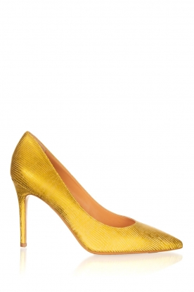 Matteo Pitti | Leather pumps Tejus | yellow