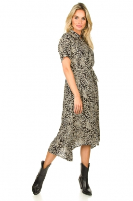 Lolly's Laundry |  Printed midi dress Blake | black