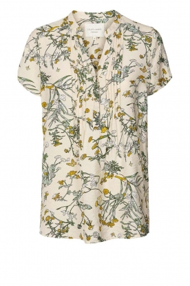 Lolly's Laundry | Print blouse Heather | natural