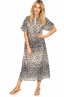 Moment by Moment |  Leopard printed kaftan Nice | grey