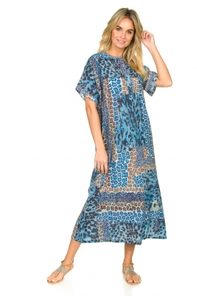 Moment by Moment |  Leopard printed kaftan Harleem | blue