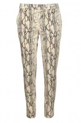 Set |  Snake print pants Chey | beige