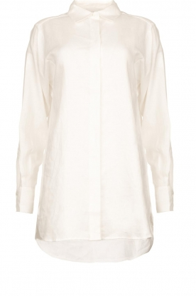 Second Female |  Linen blouse Lune | white