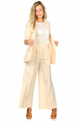 Second Female |  Wide leg trousers Lia | natural