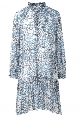 Second Female | Jurk met print Clouds | blauw