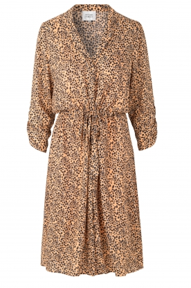 Second Female |  Midi print dress Eli | brown