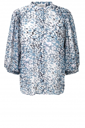 Second Female |  Print blouse Clouds | blue