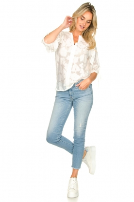 Look Floral pattern blouse Mila