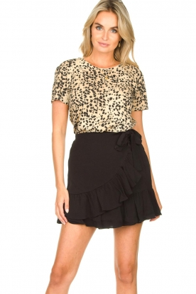Second Female | Short skirt wit ruffles Kimmy|black