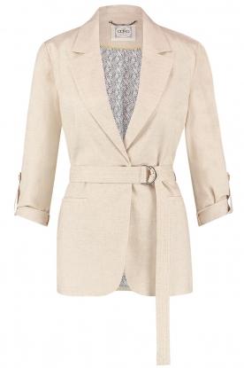 Aaiko |  Belted blazer Linna | beige