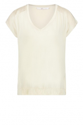 Aaiko | V-neck top Jena | natural
