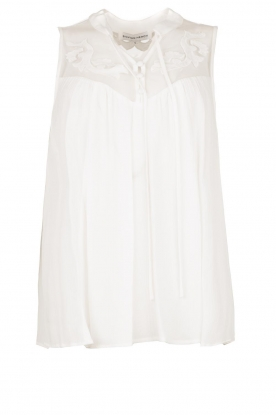 Silvian Heach |  Sleeveless top with lace Krasnodar | white
