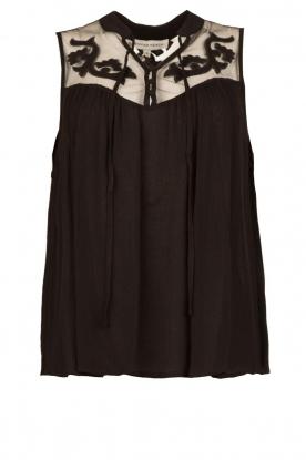 Silvian Heach |  Sleeveless top with lace Krasnodar | black