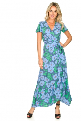 Genesis |  Floral maxi dress Aiko | blue
