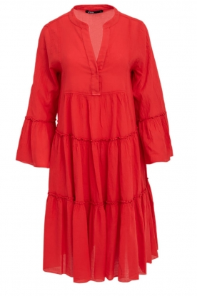 Devotion | Cotton dress Rosaline | red