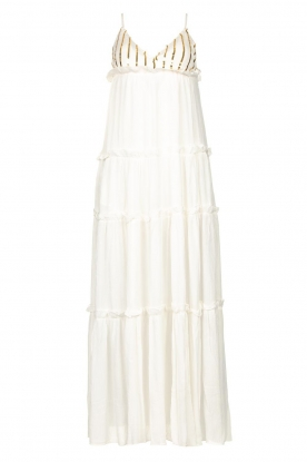 Sundress |  Maxi dress with sequins Ulla | white