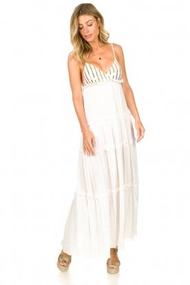Sundress | Maxi-jurk met pailletten Ulla | wit