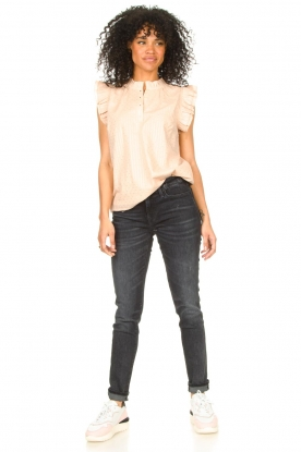 Look Lurex top with ruffles Gritt