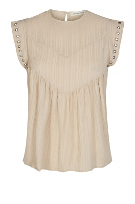 Sofie Schnoor | Top with crêpe effect Fredericke | beige