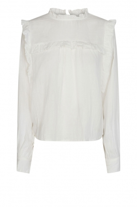 Sofie Schnoor | Top with ruffles Adrine | white