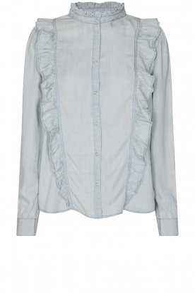 Sofie Schnoor | Blouse with ruffles Silke | blue